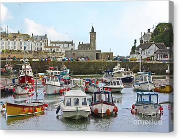 Porthleven Inner Harbour Canvas Print