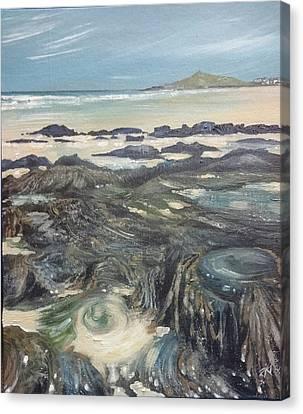 Canvas Print - Porthmeor Beach  by Keran Sunaski Gilmore