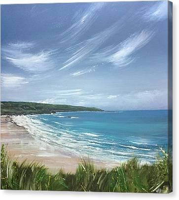 Canvas Print - Porthmeor Beach, St.ives  by Keran Sunaski Gilmore