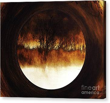 Canvas Print - Porthole To Swamped Planet by Kim Pate