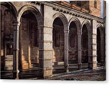 Portico Of San Vicente Avila Spain Canvas Print by Joan Carroll