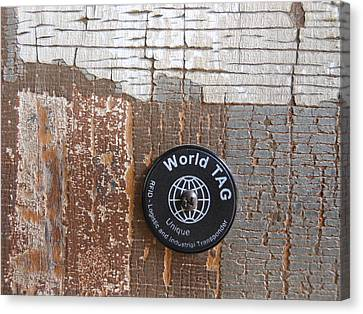 Portion Of A Fence  Canvas Print by Linda Geiger