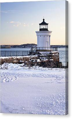 Portland Breakwater Lighthouse Canvas Print by Eric Gendron