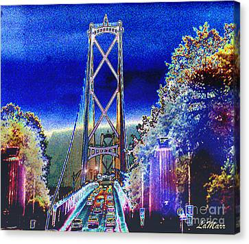 Portland Bridge Canvas Print by LaMarr Kramer