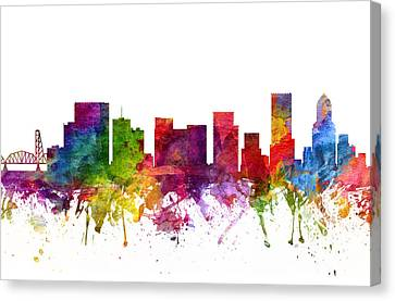 Portland Cityscape 06 Canvas Print by Aged Pixel