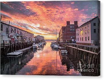 Portland Harbor Sunrise Canvas Print by Benjamin Williamson