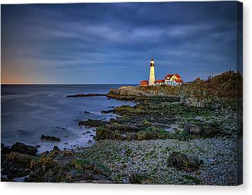 Portland Head Aglow Canvas Print by Rick Berk