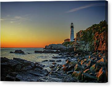 Portland Head Light At Dawn Canvas Print by Rick Berk