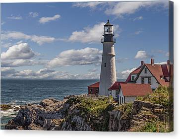 Portland Head Light Canvas Print by Capt Gerry Hare