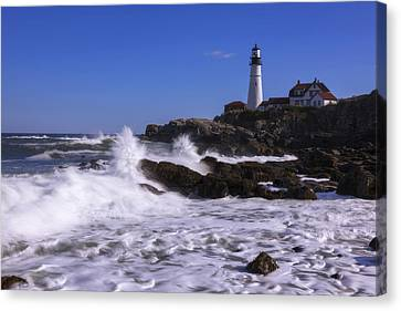 Portland Head Light I Canvas Print by Chad Dutson