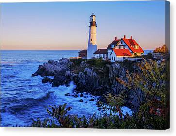 Portland Head Light II Canvas Print by Chad Dutson