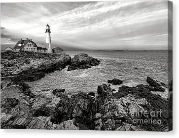 Portland Head Light Canvas Print by Olivier Le Queinec