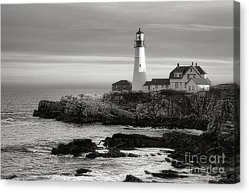 Portland Head Light On Casco Bay Canvas Print by Olivier Le Queinec
