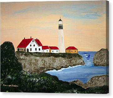 Portland Head Light Canvas Print