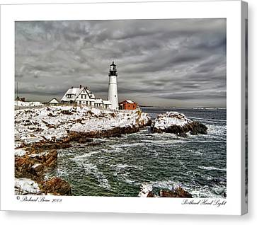 Canvas Print featuring the photograph Portland Head Light by Richard Bean