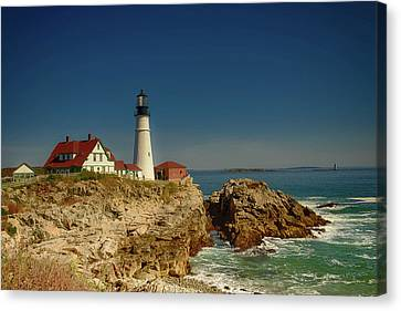 Portland Head Lighthouse 2 Canvas Print by Sherman Perry