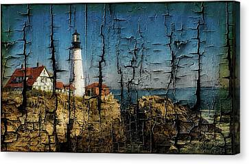 Portland Head Lighthouse 5 Canvas Print by Sherman Perry