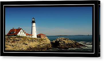 Portland Head Lighthouse 7 Canvas Print by Sherman Perry