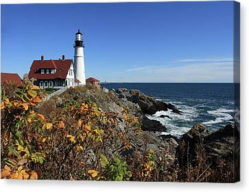 Portland Head Lighthouse In The Fall Canvas Print