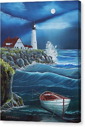 Portland Head Lighthouse Canvas Print by Jerry McElroy