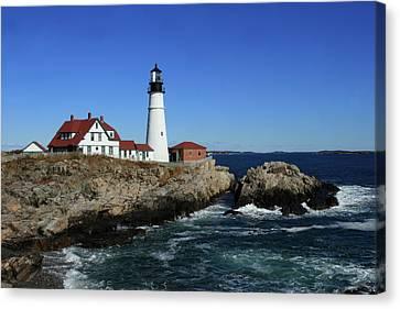 Portland Head Lighthouse Canvas Print by Lou Ford