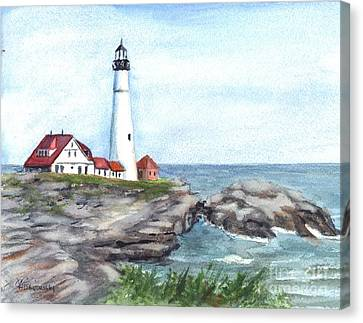 Portland Head Lighthouse Maine Usa Canvas Print