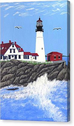Portland Head Lighthouse Painting Canvas Print by Frederic Kohli