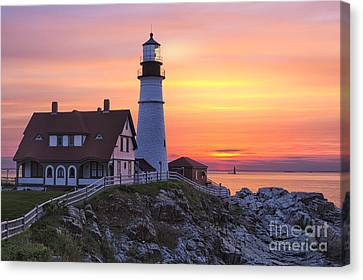 Portland Head Lighthouse Sunrise Canvas Print