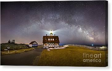 Portland Head Under The Milky Way Canvas Print by Benjamin Williamson