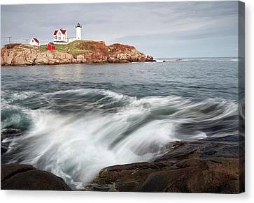 Cape Neddick Lighthouse Canvas Print - Portland Lighthouse by Jon Glaser