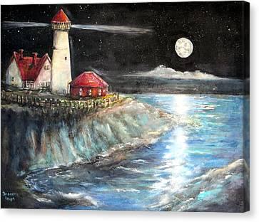 Portland Maine Twilight Canvas Print