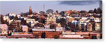 Portland Munjoy Hill Panorama Canvas Print by Eric Gendron