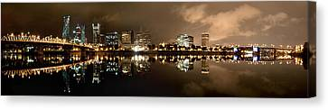 Portland Panorama Canvas Print by Brian Bonham
