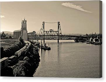 Portland Steel Bridge Canvas Print by Albert Seger