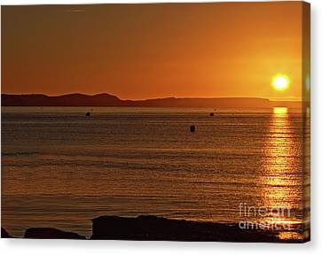 Portland Sunrise Canvas Print by Stephen Melia
