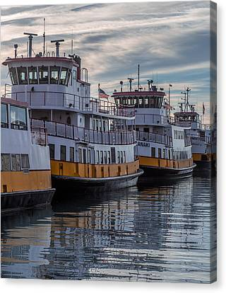 Portlands Casco Bay Lines Canvas Print by Capt Gerry Hare