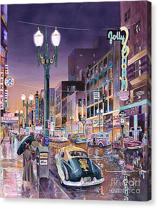 Portland's Jolly Joans Canvas Print by Mike Hill