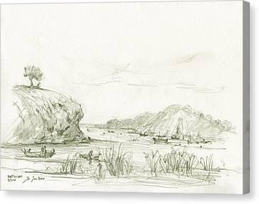 Portlligat Cadaques Canvas Print by Juan Bosco