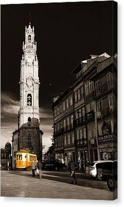 Cristian Church Canvas Print - Porto Electric Tram by Antonio Costa