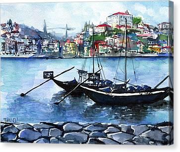 Porto Rabelo Boats Canvas Print