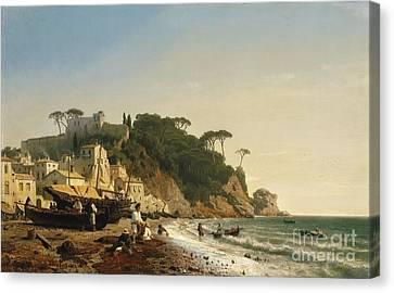 Porto Venere At The Ligurian Coast Canvas Print