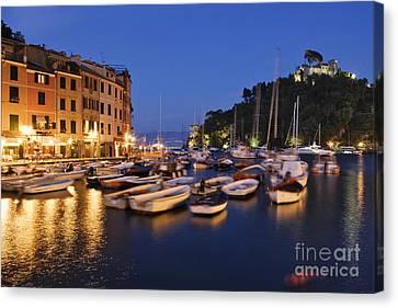 Portofino At Dusk Canvas Print by Jeremy Woodhouse