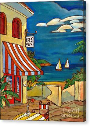 Portofino Cafe Canvas Print - Portofino Cafe by Paul Brent