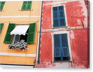 Portofino Facade 2 Canvas Print by Al Hurley
