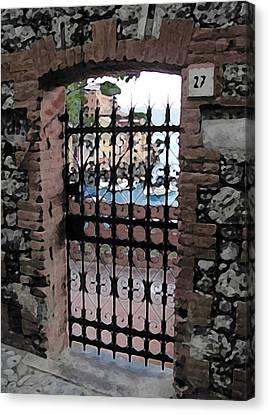 Portofino Gate Canvas Print by Paul Barlo