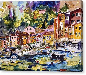 Portofino Italy Bella Italia Canvas Print by Ginette Callaway