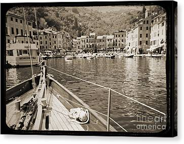 Portofino Italy Canvas Print - Portofino Italy From Solway Maid by Dustin K Ryan