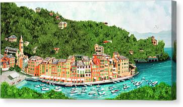 Portofino, Italy Prints From Original Oil Painting Canvas Print
