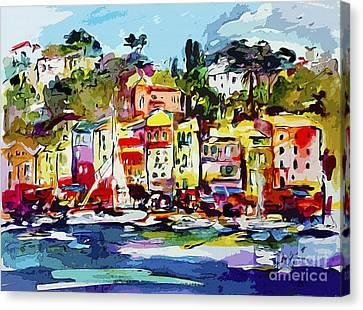 Portofino Modern Art Italy Canvas Print by Ginette Callaway