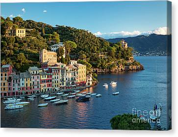 Portofino Morning Canvas Print by Brian Jannsen
